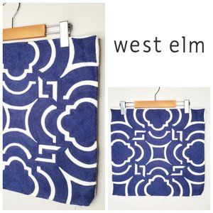 WEST ELM 100% Cotton Embroidered Cushion Cover